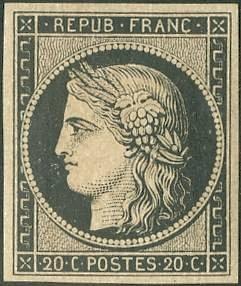1er timbre français
